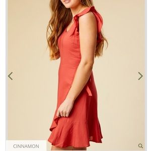 Red fit and flare dress. Never worn